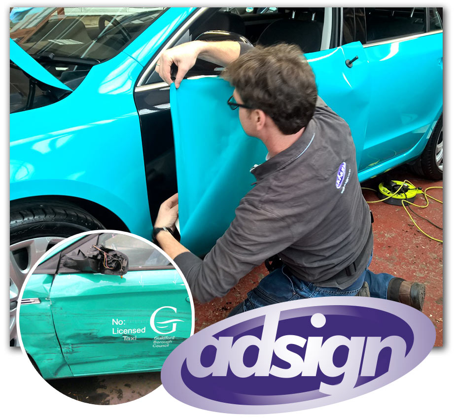 guildford-taxi-wrap-repairs