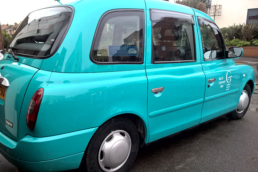 Adsign taxi-cab livery